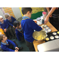 Mrs Jeyes, and her mixer, helped us!