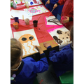 We painted pictures of 'under the sea' creatures...