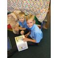 We shared books...