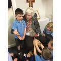 Miserable Maureen brought Daisy to school!