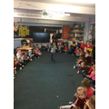 This afternoon we all took part in a Fashion Show!