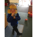 We're loving playing in our 'Three Bears' Cottage' role play area'...