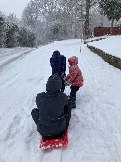 Sadie sledging