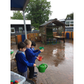 Today, we have mostly been collecting rain...