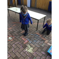 ...and created our own Rangoli designs...