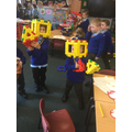 We've enjoyed playing with the Polydron...