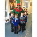 On Wednesday the 'naughty elf' invited us to meet Father Christmas.