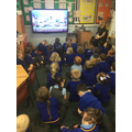 Father Andrew streamed a live Mass to our classroom.