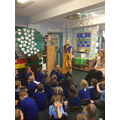 Mrs Hayes dressed up in a sari for Diwali...