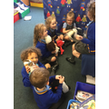 Our class puppets enjoyed an afternoon soiree!