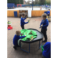 We've loved playing with the dinosaurs...