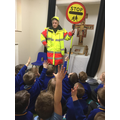 Dot called in for a chat about Road Safety.