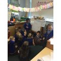 We are enjoying our 'school' role play area.