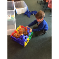 We used the Polydron construction kit...