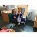 We're enjoying our 'Weather Report' role play area...