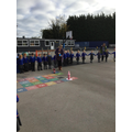 ...and Mrs Sweeney demonstrated a firework / science experiment!