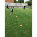 ...and, this morning, we practised our 'ball dribbling' skills.