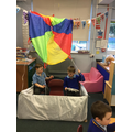 We've loved playing in our Hot Air Balloon role play area!