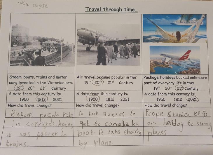 Katie D: Travel through the centuries