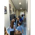 We enjoyed exploring our school.