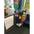 We enjoyed finding hidden words to read a sentence about St George.