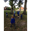 We explored our outdoor equipment - which was created by Mr Stephenson.