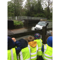 We LOVED watching cars splashing through the ford