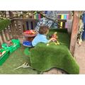 We enjoyed playing in the 'Dino Den'...