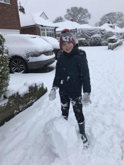 Finlay's frozen fun!