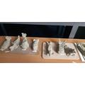 Arctic animals - clay models