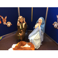 Baby Jesus is born in a stable