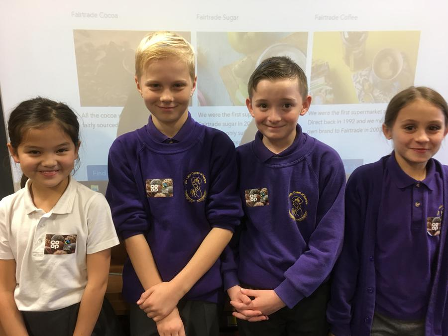An interesting visit from the Coop's Fair Trade team. Years 4, 5 & 6 heard about ethical trading including the sale of footballs. Banana & chocolate tasting proved popular.  You can find out more from  http://www.co-operativefood.co.uk/food-matters/fairtrade-ethical-trading/fairtrade-product-stories/ & lookout for the Foxwood branch having an open day soon. (Other shops available too).