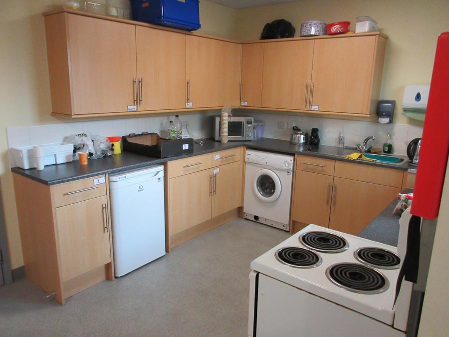 Kitchen next to Heart Space