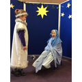 Angel Gabriel appears to Mary.