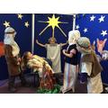Angel Gabriel tells them the news that a Saviour has been born
