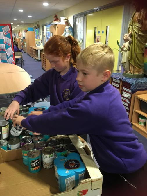 Sorting food donations