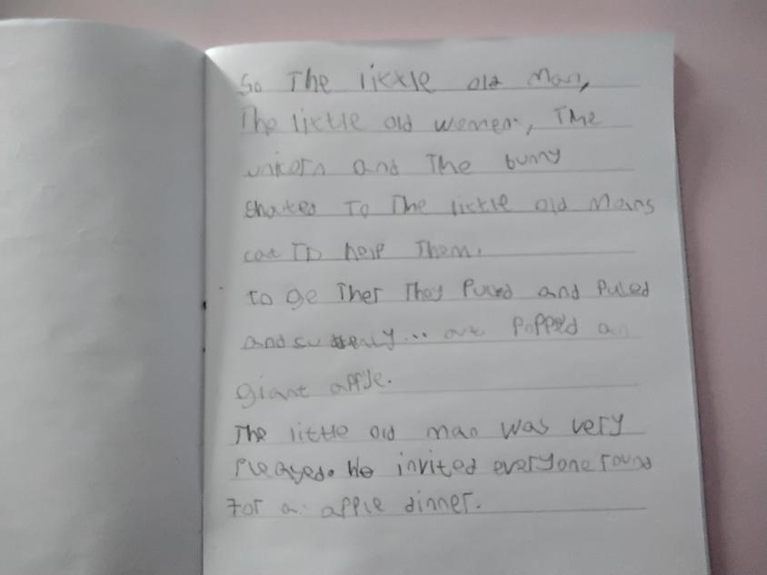 A wonderful piece of writing from our story writing.