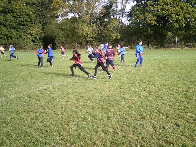 Playing rugby at rugby festival