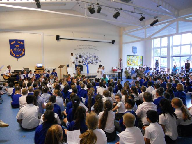 Mass in the school hall
