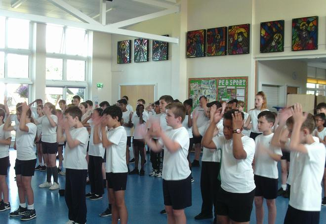 Year 5 Body Percussion with the Beat Goes On