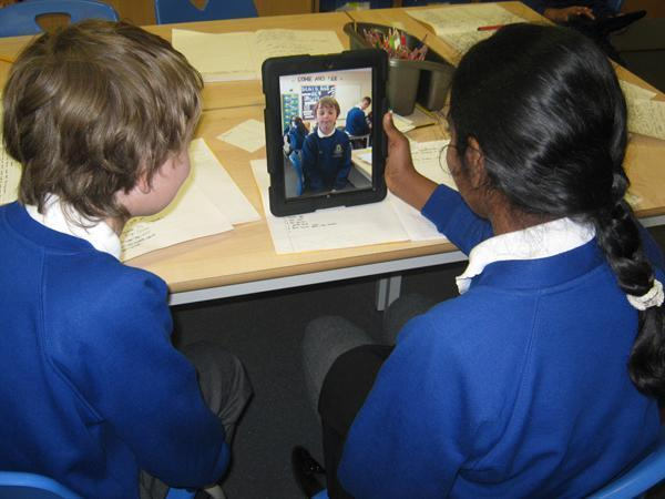 Our iPads in action!