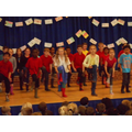 Year 3 performed a 'Gumboot dance'.