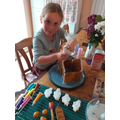 Betsy made 'A Spooky Halloween Gingerbread House'.