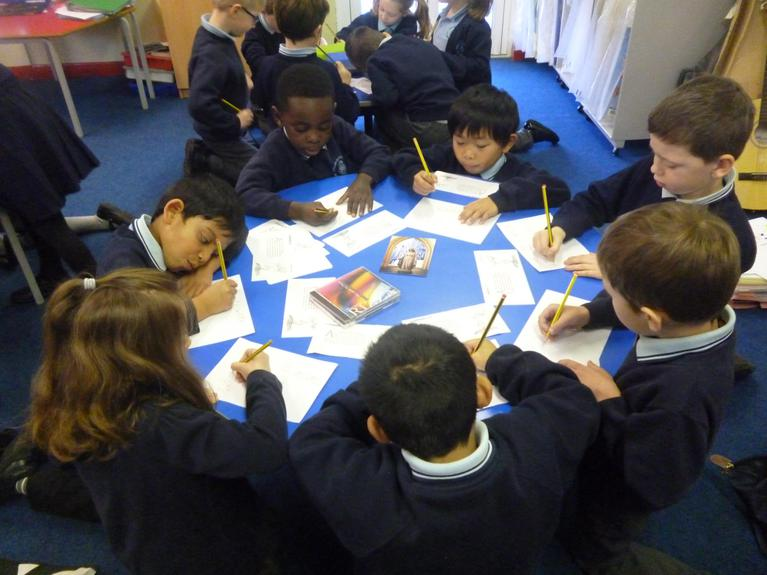 We reflected on the words in the gospel.