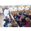 Fr.Cosmas told us about the books used during mass
