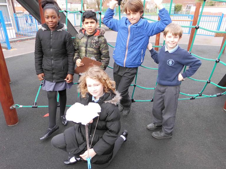 We tested different materials for parachutes.