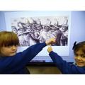 We looked at photos & drawings.