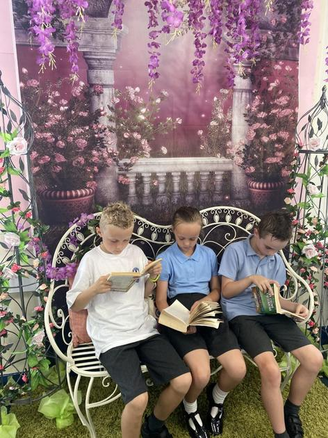 Our class novel inspired the theme of our tranquil reading corner.