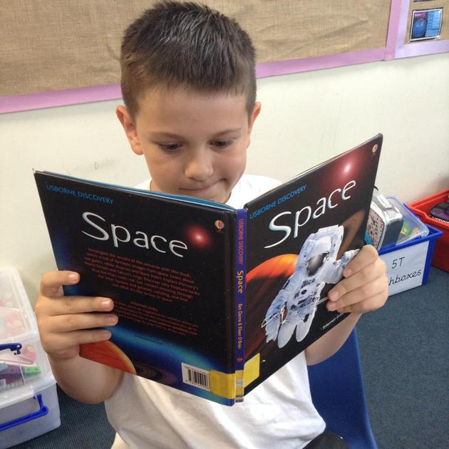 I chose this non-fiction text to support my learning in science. Space is fascinating!