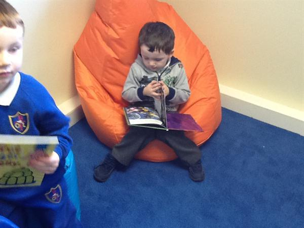 We have enjoyed reading in our new library.